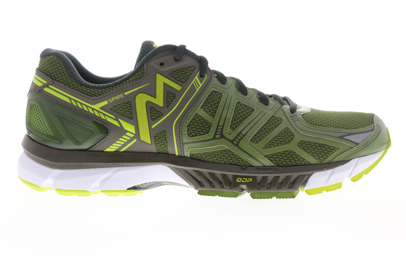 361 Degrees Spire Mens Green Mesh Low Top Lace Up Athletic Running Shoes