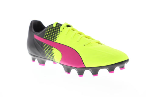 Puma Evospeed 4.5 Tricks Fg Mens Yellow Synthetic Athletic Soccer Cleats