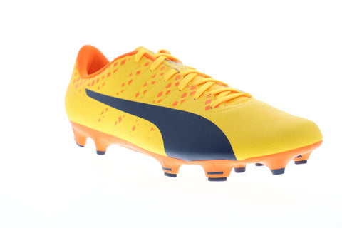 Puma EvoPower 4 FG 10396304 Mens Yellow Low Top Athletic Soccer Cleats Shoes