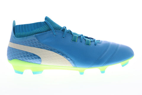 Puma One 17.1 Fg Mens Blue Synthetic Athletic Lace Up Soccer Cleats Shoes