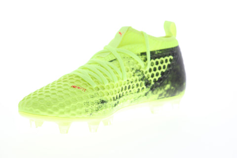 Puma Future 18.2 Netfit FG AG 10432101 Mens Green Athletic Soccer Cleats Shoes