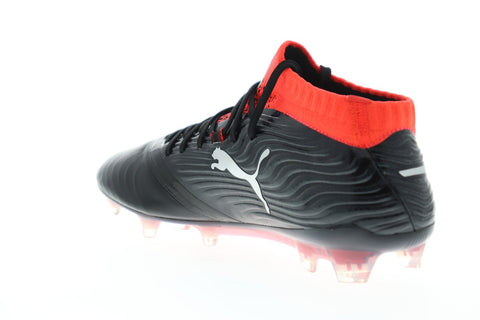 Puma One 18.1 Fg Mens Black Synthetic Athletic Lace Up Soccer Cleats Shoes