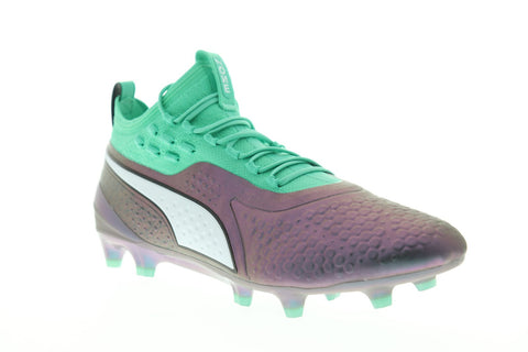 Puma One 1 IL Fg Ag Mens Purple Synthetic Athletic Soccer Cleats Shoes