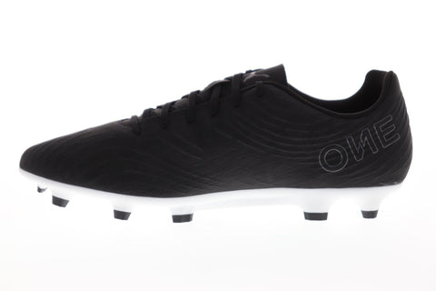 Puma One 19.4 FG AG 10549202 Mens Black Low Top Athletic Soccer Cleats Shoes