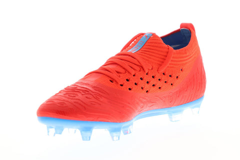 Puma Future 19.2 Netfit Fg Ag Mens Red Textile Athletic Soccer Cleats Shoes