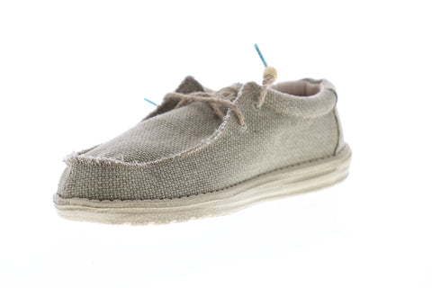 Hey Dude Wally Braided 110628400 Mens Beige Tan Casual Lace Up Boat Shoes