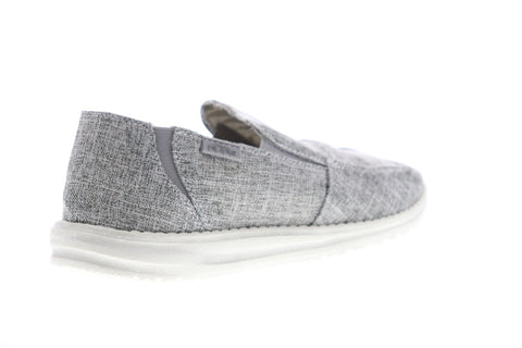 Hey Dude Chan L 111903901 Mens Gray Canvas Loafers & Slip Ons Casual Shoes