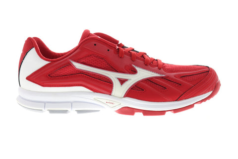 Mizuno Players Trainer Mens Red Mesh & Synthetic Athletic Training Shoes