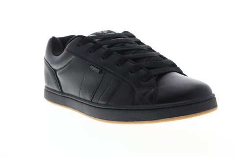 Osiris Loot 1282 115 Mens Black Leather Low Top Lace Up Skate Sneakers Shoes