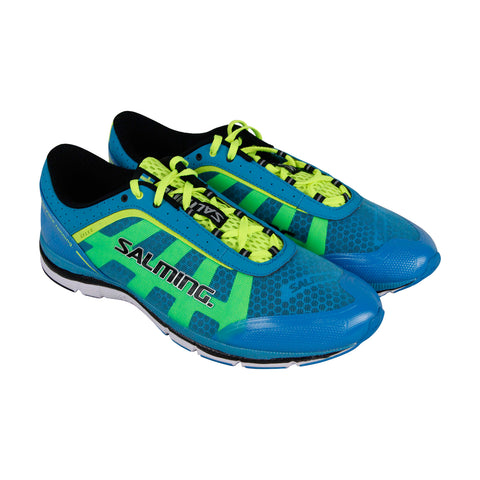 Salming Speed Mens Blue Mesh & Synthetic Athletic Lace Up Running Shoes