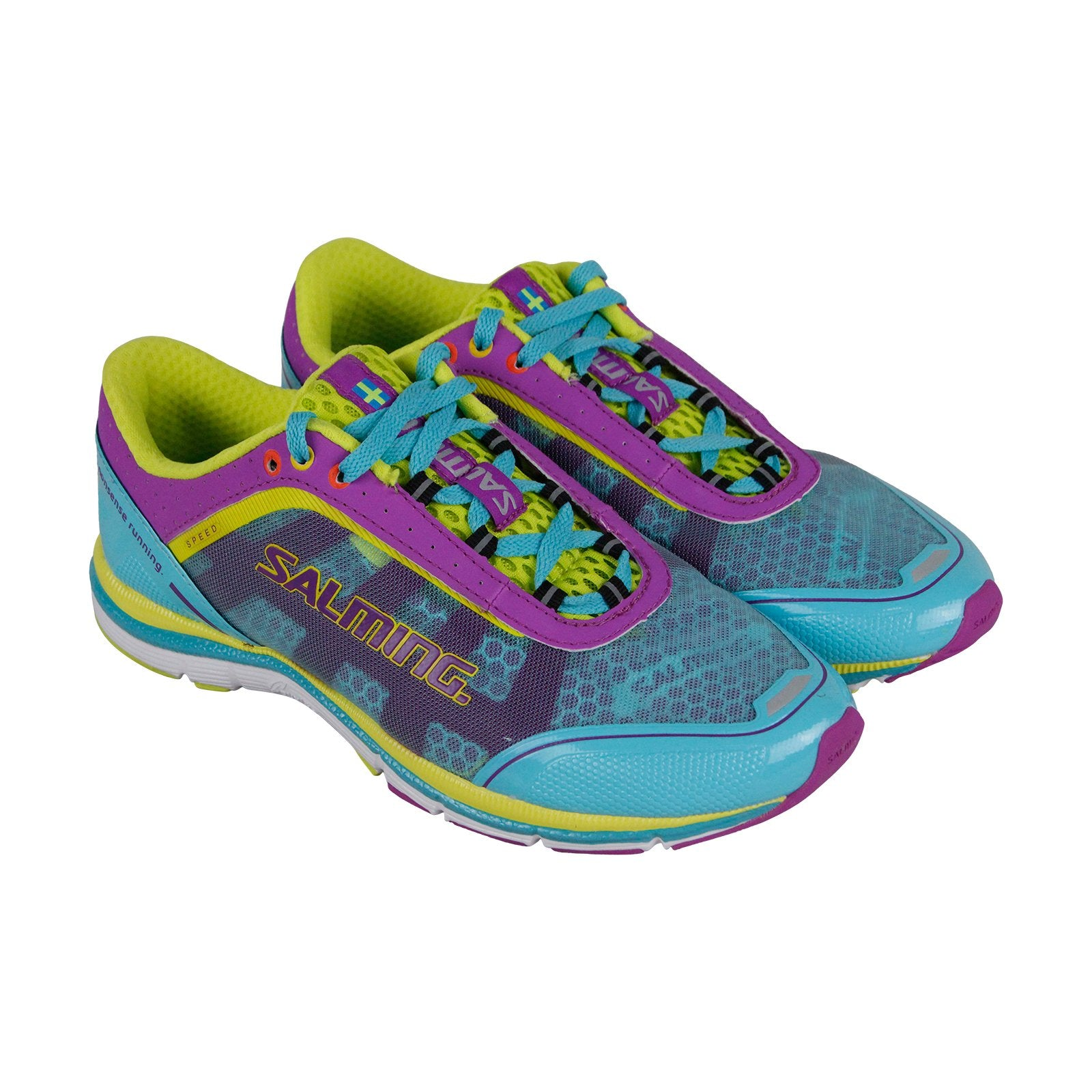 online retailer 204f9 ebf86 Salming Speed 3 Womens Blue Mesh & Synthetic Athletic Running Shoes