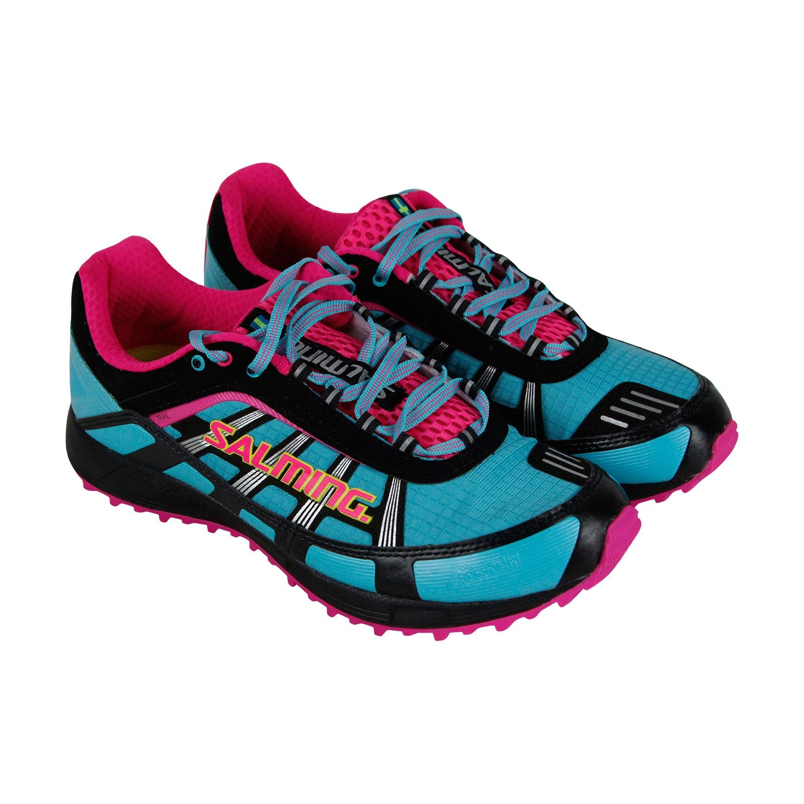low priced 6c37e 5c81e Salming Trail T2 Womens Blue Textile & Leather Athletic Running Shoes
