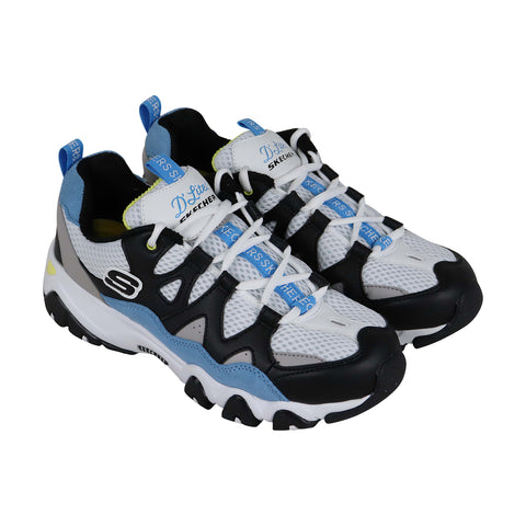 Skechers D Lites 2 Wild Summers 12937 Womens White Gym Running Shoes