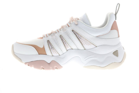 Skechers D Lites 3.0 Intense Force Womens White Leather Low Top Sneakers Shoes