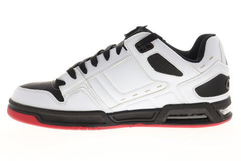 Osiris Peril 1308 295 Mens White Black Leather Lace Up Athletic Skate Shoes