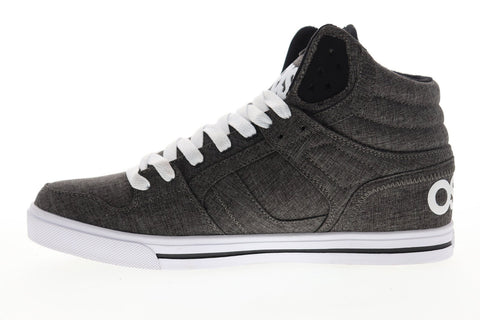 Osiris Clone 1322 2455 Mens Black Gray Canvas Lace Up Athletic Skate Shoes
