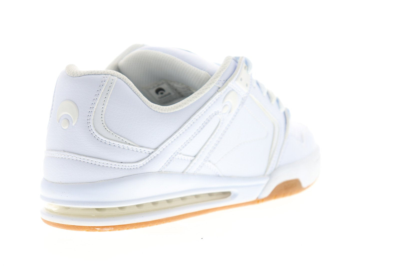 Osiris D3H Mens White Leather Athletic Lace Up Skate Shoes