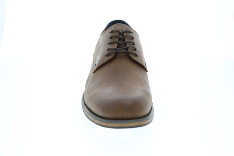 GBX Kenyon Plain Toe Mens Tan Leather Casual Dress Lace Up Oxfords Shoes