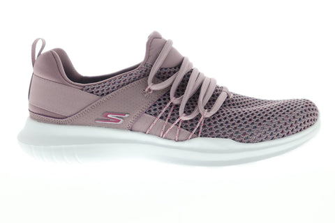 Skechers Gorun Mojo Upswing Womens Pink Mesh Athletic Lace Up Running Shoes