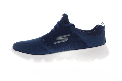 Skechers Go Run Focus Womens Blue Textile Athletic Lace Up Running Shoes