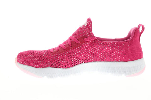 Skechers Gorun Tr React Womens Pink Textile Athletic Lace Up Running Shoes