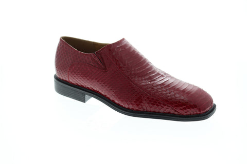 Giorgio Brutini Felix Mens Red Leather Casual Dress Slip On Loafers Shoes
