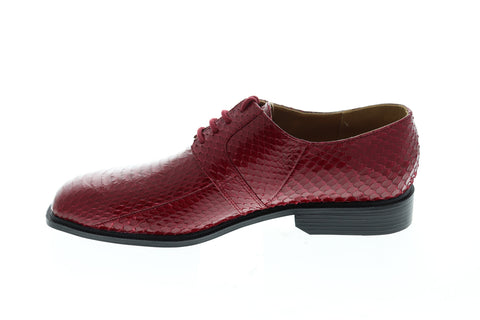 Giorgio Brutini Slaton Mens Red Leather Casual Dress Lace Up Oxfords Shoes