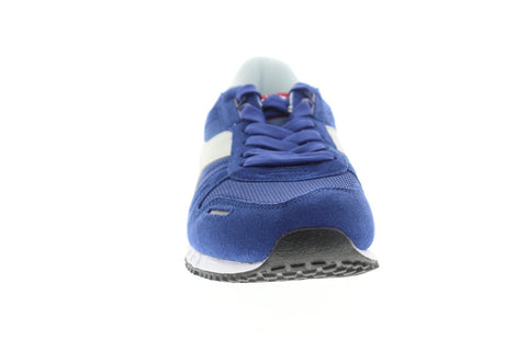 Diadora Titan II Mens Blue Suede & Nylon Athletic Lace Up Running Shoes