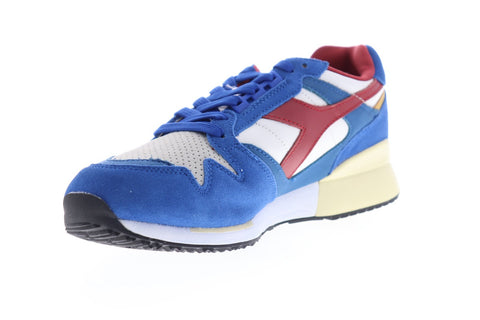 Diadora I.C. 4000 Premium 170945-C6642 Mens Blue Suede Low Top Sneakers Shoes