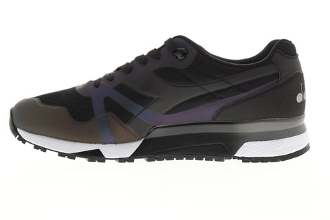 Diadora N9000 Mm Hologram Mens Black Mesh Athletic Lace Up Running Shoes