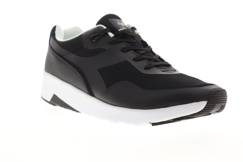 Diadora Evo Run 171827-80013 Mens Black Mesh Lace Up Lifestyle Sneakers Shoes