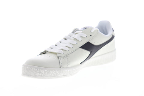 Diadora Game L Low 172526-C3159 Mens White Leather Low Top Sneakers Shoes