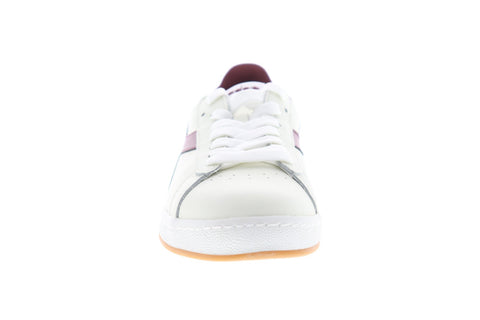 Diadora Game L Low Mens White Leather Low Top Lace Up Sneakers Shoes