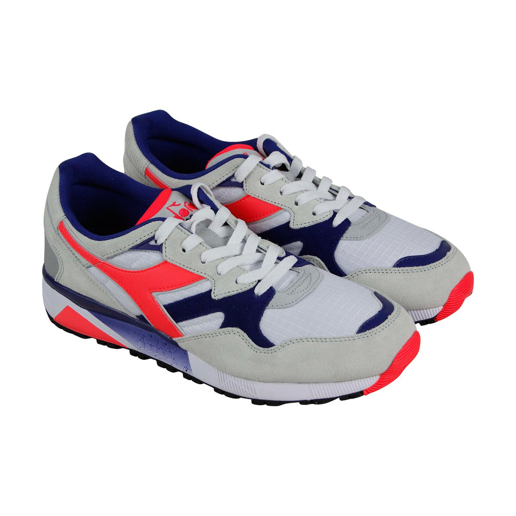 cbd11fac Diadora N9002 Mens Gray Suede & Nylon Athletic Lace Up Running Shoes