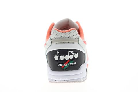 Diadora Rebound Ace Mens White Leather Low Top Lace Up Sneakers Shoes