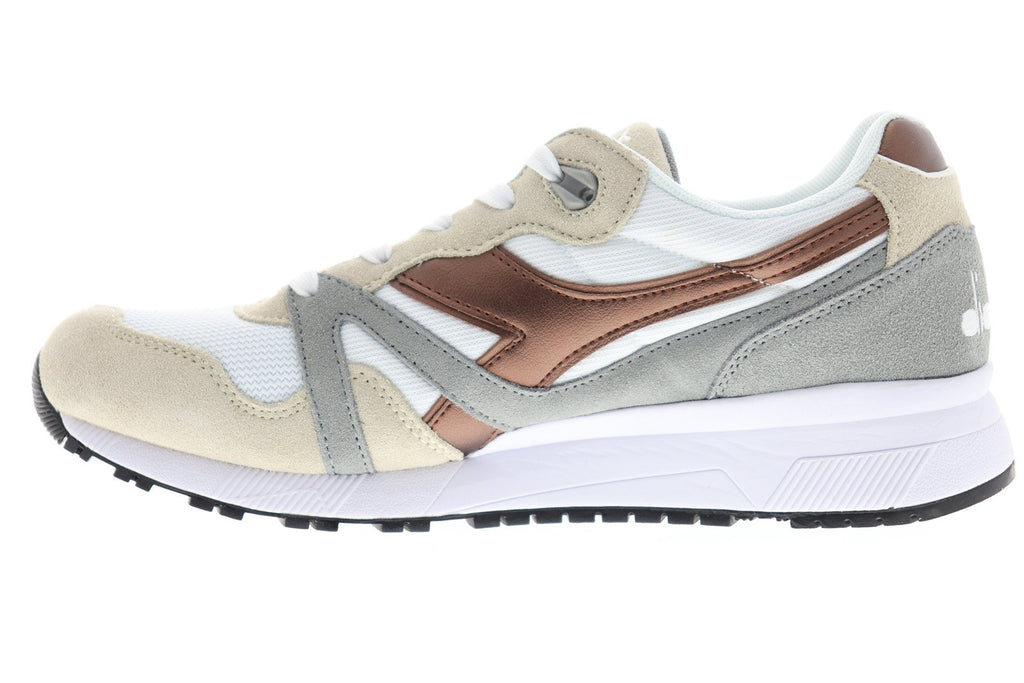 0f111485 Diadora N9000 Spark Mens White Suede & Nylon Athletic Lace Up ...