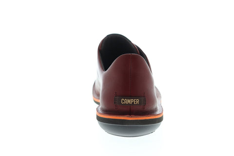 Camper Beetle 18751-064 Mens Red Leather Lace Up Euro Sneakers Shoes