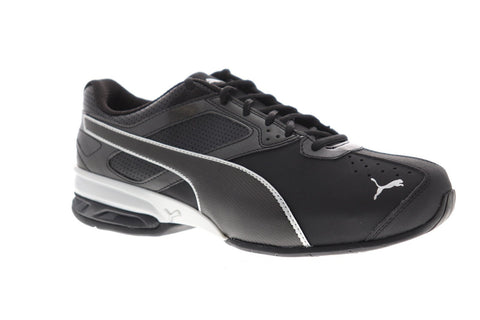 Puma Tazon 6 Wide Fm Mens Black Synthetic Athletic Lace Up Running Shoes