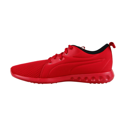 Puma Carson 2 Molded Mens Red Textile Low Top Lace Up Sneakers Shoes