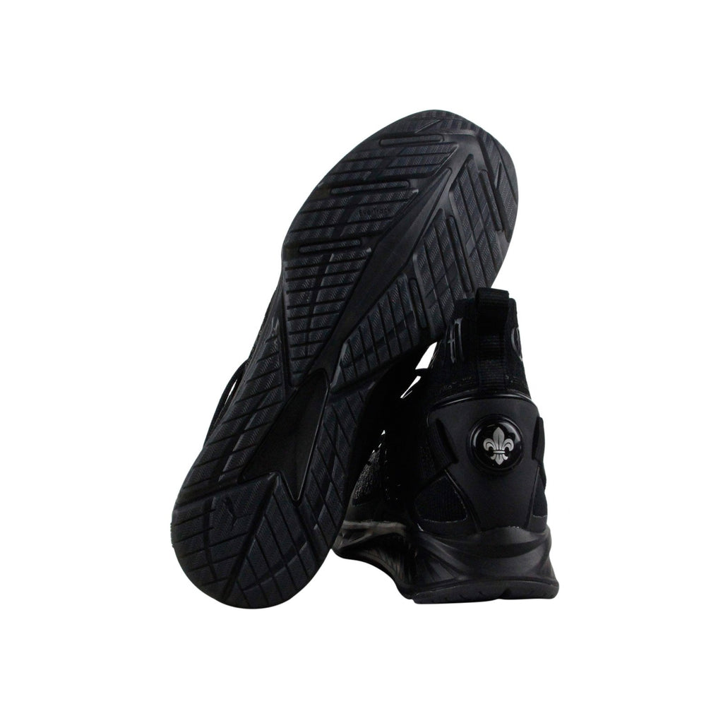 huge discount 617d1 de51c Puma Ignite Evoknit En Noir Mens Black Textile Athletic Training Shoes