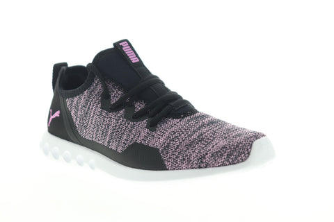 Puma Carson 2 X Knit 19096703 Womens Black Pink Low Top Athletic Running Shoes