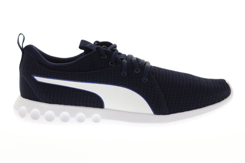 Puma Carson 2 New Core Mens Blue Mesh Low Top Lace Up Sneakers Shoes