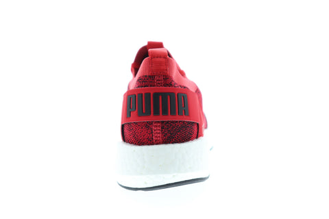 Puma Nrgy Neko Engineer Knit Mens Red Textile Low Top Sneakers Shoes