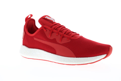 Puma Nrgy Neko Sport Mens Red Mesh Low Top Lace Up Sneakers Shoes