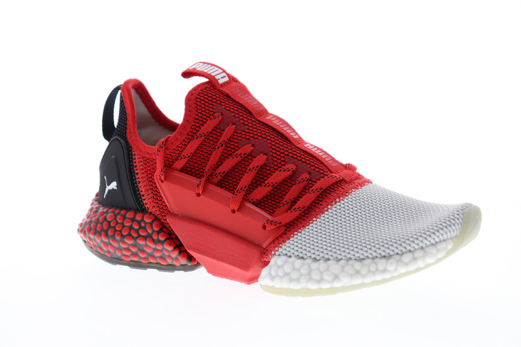 fe5bba9b2fd9b Puma Hybrid Rocket Runner Mens Red Textile Low Top Lace Up Sneakers Shoes