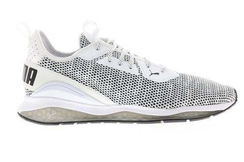 Puma Cell Descend 19167407 Mens White Canvas Lace Up Athletic Running Shoes