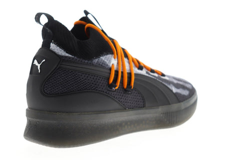 Puma Clyde Court HW 19189501 Mens Black Canvas Lace Up Athletic Basketball Shoes