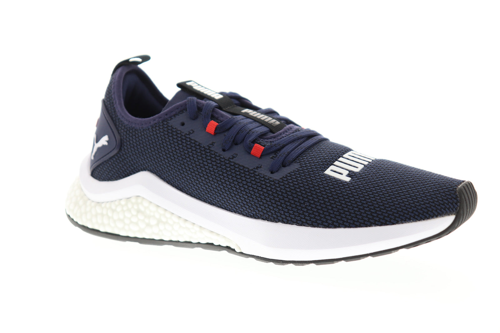 Puma Hybrid Nx Mens Gray Textile Low Top Lace Up Sneakers Shoes