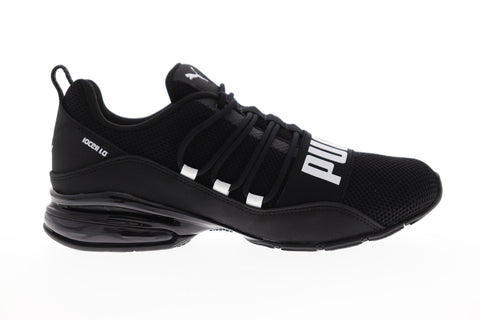 Puma Cell Regulate Woven Mens Black Textile Athletic Lace Up Running Shoes