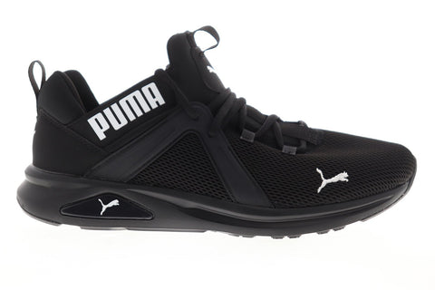 Puma Enzo 2 19324901 Mens Black Mesh Lace Up Athletic Running Shoes